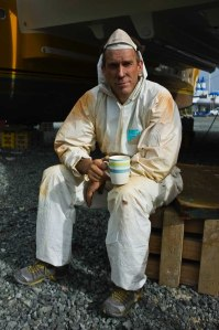 Casper the ghost - sanding copper coat anti-fouling