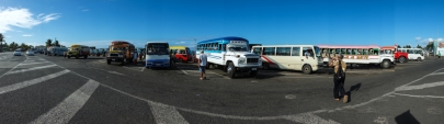 Apia bus station - busiest place in town