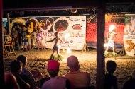 Fire dancing, down-town Apia, starring local 8yo street kids