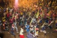 Men's dance: charging with sticks