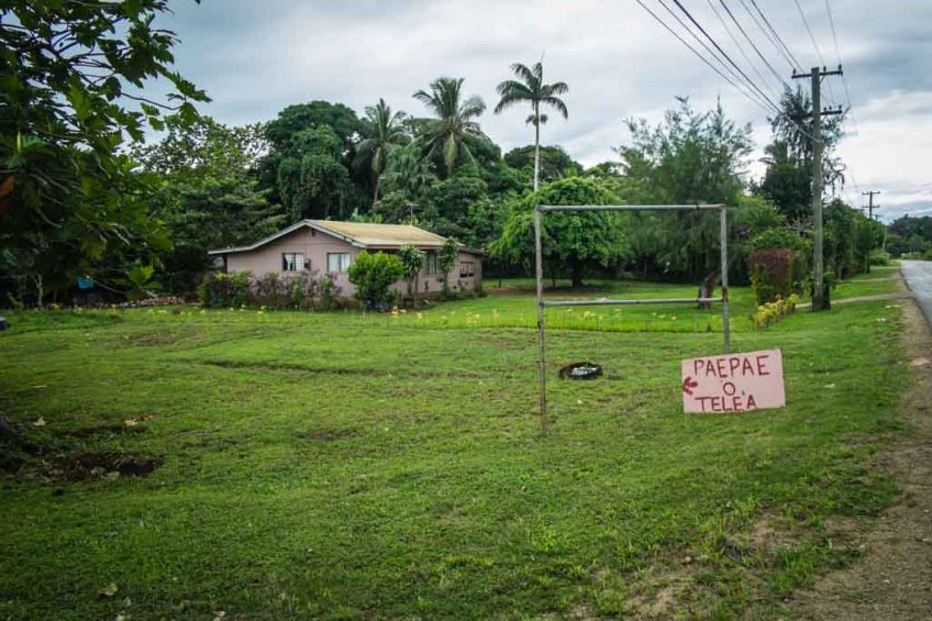 The signpost for one of Tonga's most important archaeological sites