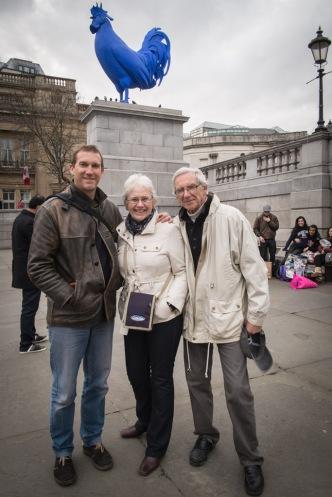 D, Marian (step mum) and Robin (Dad)