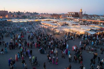 Sunset over the Djemaa el-Fna