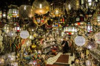 Magic lanterns - pierced metal lit like a galaxy