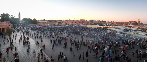 Djemaa el-Fna - centre of Marrakech