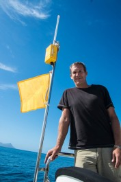 Damian and his jury-rigged Q flag