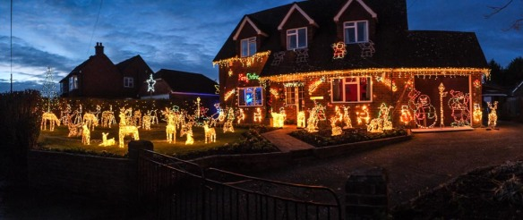 Next-door neighbour's Christmas lights, Wisborough Green