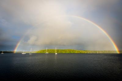 Rainbow over Neiafu