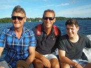 Teaching Matt to drive the dinghy
