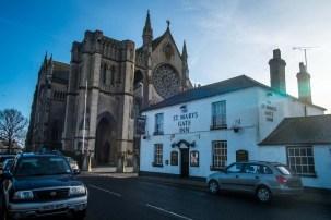 Arundel Cathedral... and next door pub