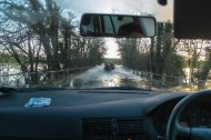 Newbridge near Wisborough - it was flooded like this numerous times while we were there