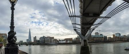 The Shard from under the Millennium Bridge