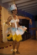 Brian performs a traditional dance
