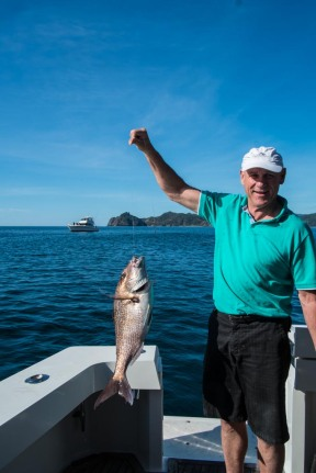 Leigh hauls in a snapper