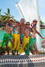 The Vaka Vinaka motley crew: Lionel, Irene, Ray, Michelle, KL