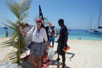 Walking over 'hot coals' - Pirates Day