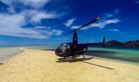 Interrupted by a chopper there to take tourist pix