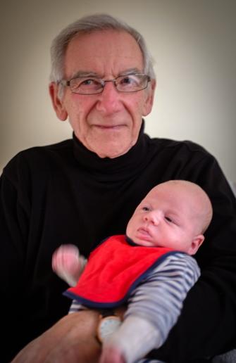 Damian's Dad, Rob, with New Nephew Harry