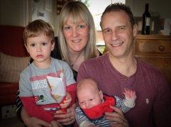 Joshua, Bex, New Nephew Harry and Karl, Damian's brother.