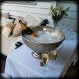 Champagne celebration for Lesley, Chrissie's sister