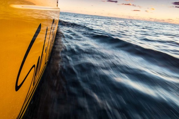 Sailing into the dawn