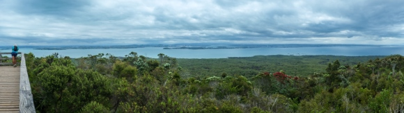View from the summit of Rangitoto
