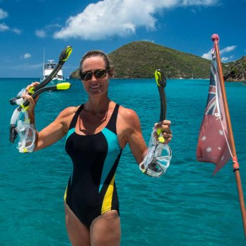 Two masks, three snorkels: not a bad haul for one free dive!