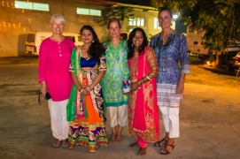 Irene, Angelie, Susan, Ashleen and KL in our Diwali best