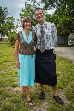 Di and Graham in their Sunday best