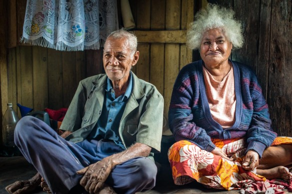 Two of Sera's elderly patients in Naivedamu