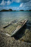 The 'old' canoe currently being used - on its last legs