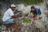 Lutu directing the palangi