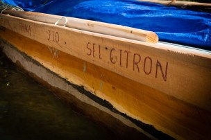 All the team's names were carved on the gunwales