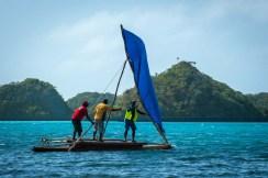 Sail hoisted