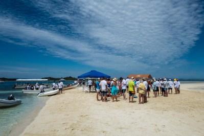 Sand bar party