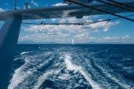 Kiapa's wake at 15 knots - and the boats we left behind