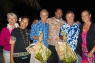 Triumphant crew, with Irene,Va, Lionel, Save, Craig and Kerry